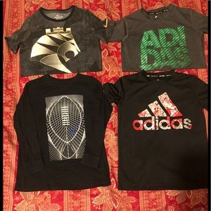 Four size small boys athletic tees.